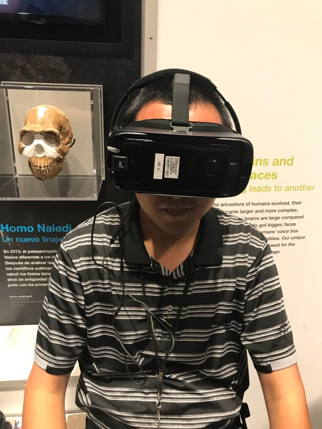 man with a virtual reality headset on