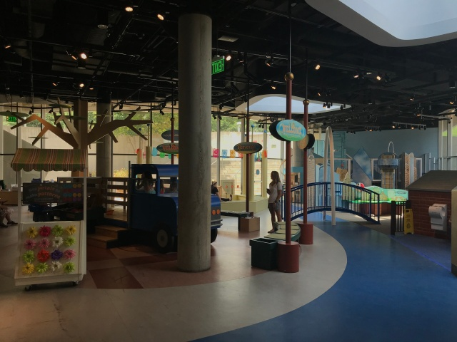 a children's play area in a museum