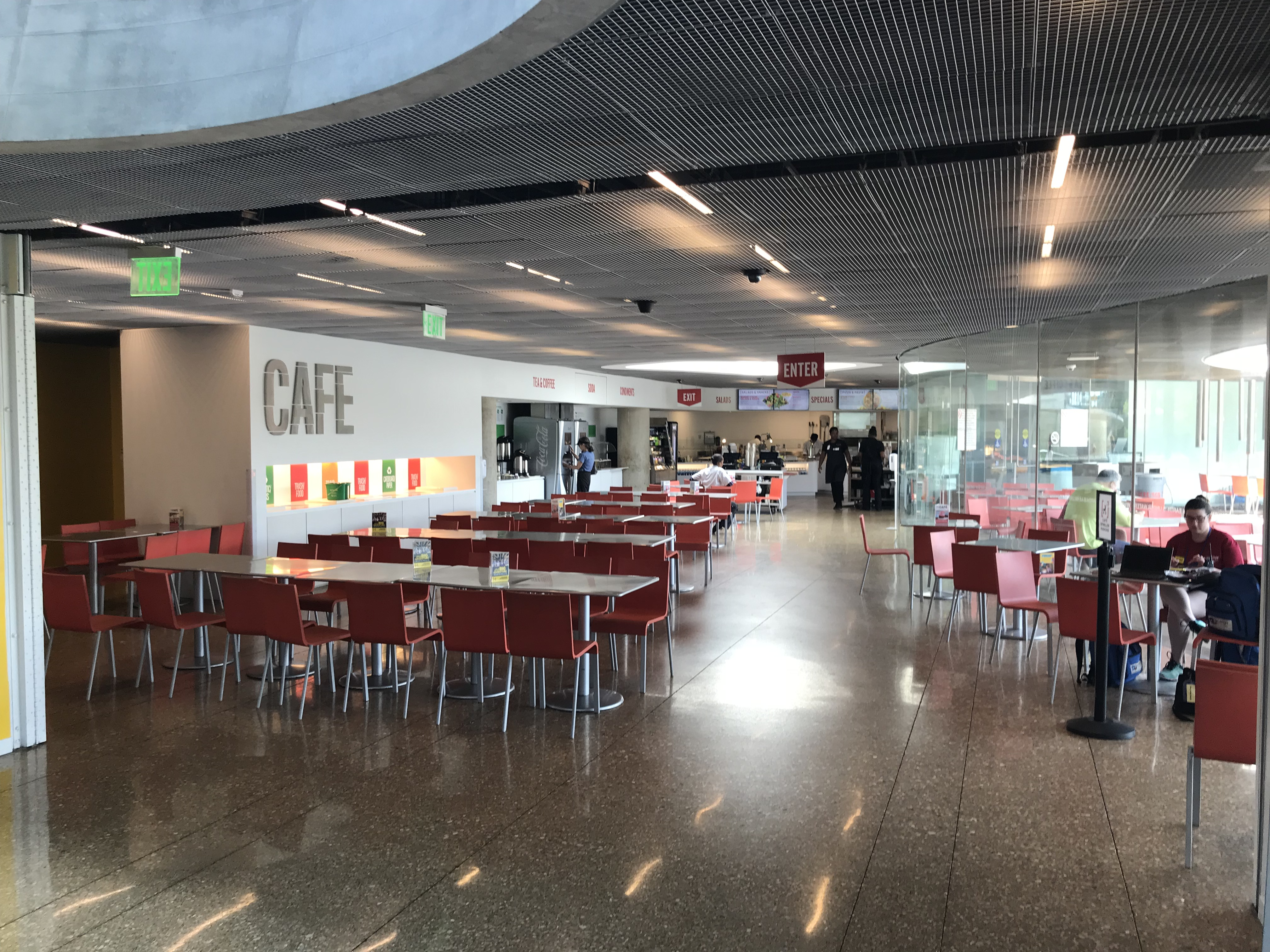 a picture of a museum cafe