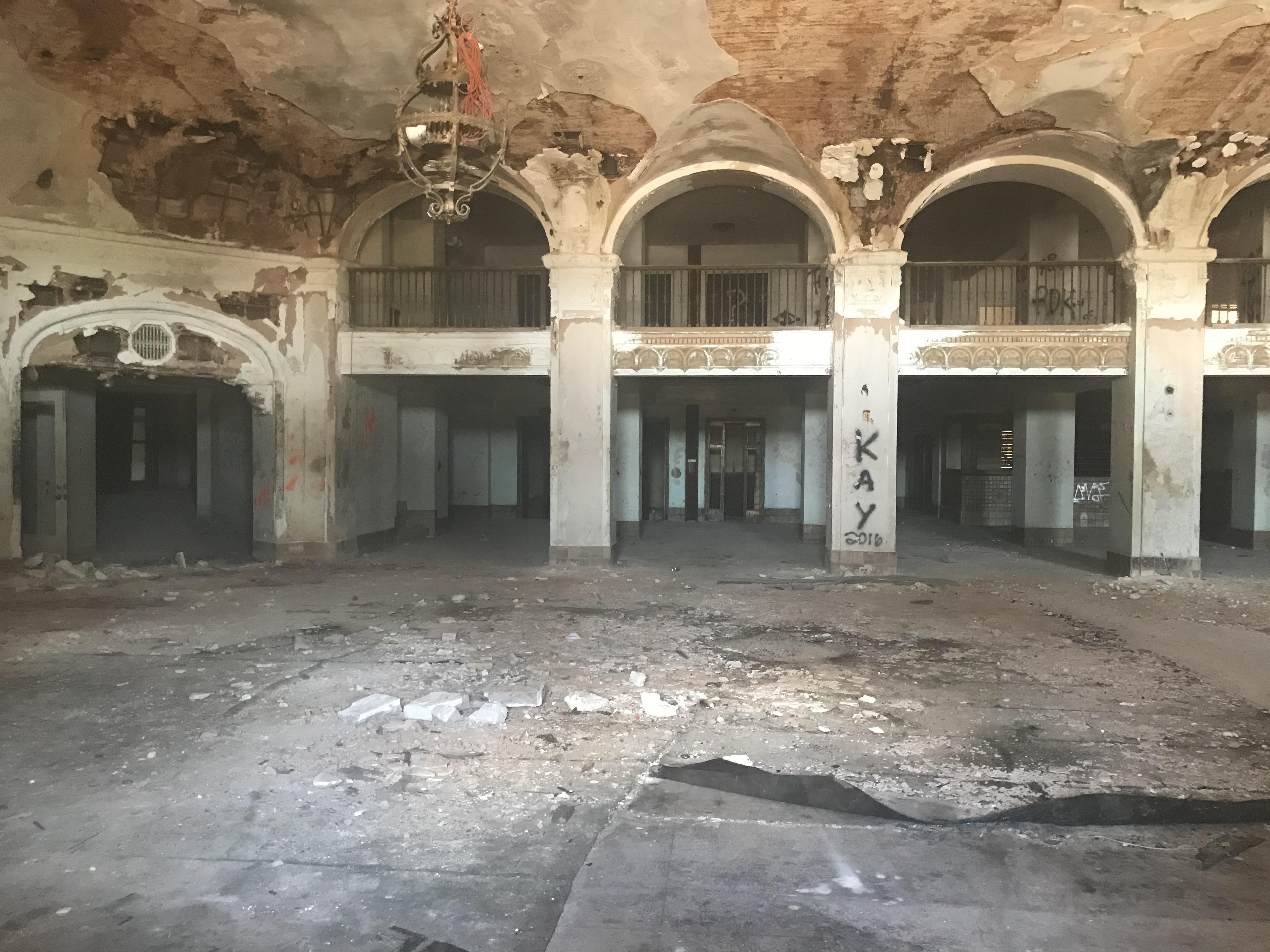 lobby of Baker Hotel