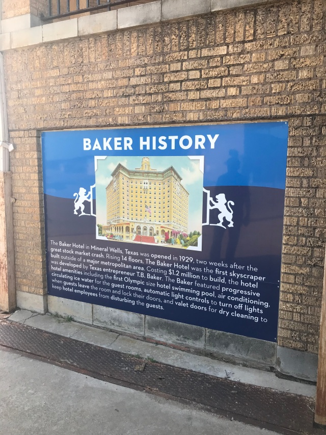 sign of the history of the baker hotel