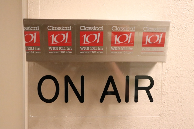 picture of an on air sign at a radio station