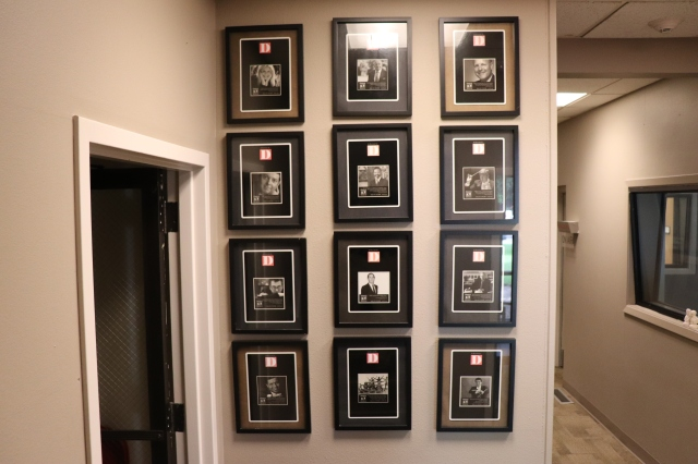 picture of magazine recognitions on the wall of WRR