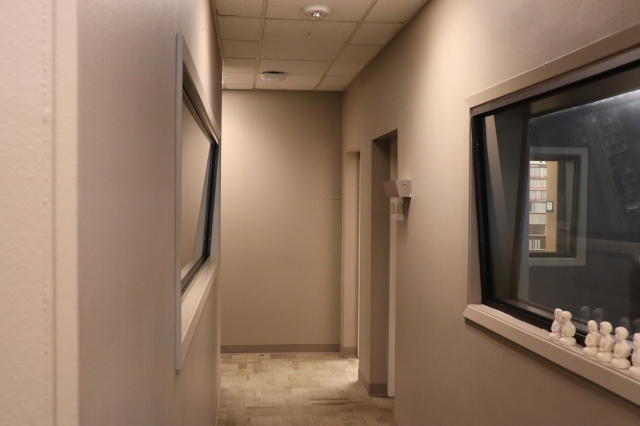 picture of a radio station hallway