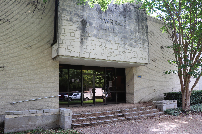 exterior shot of a radio station studio