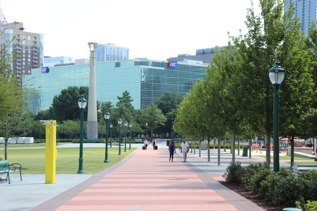 picture of the entrance to olympic park in Atlanta.