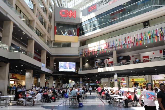picture of cnn center lobby.