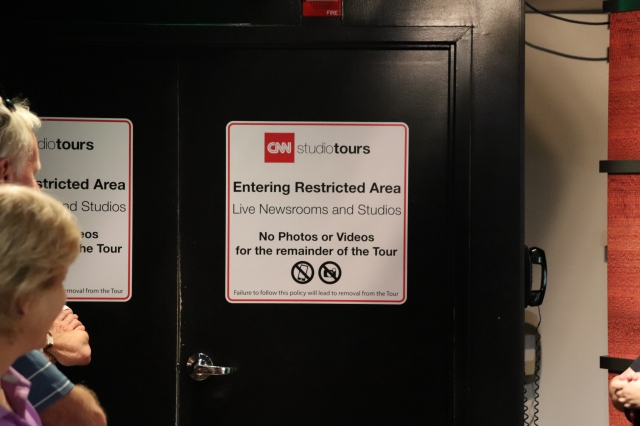 cnn center tour restricted area