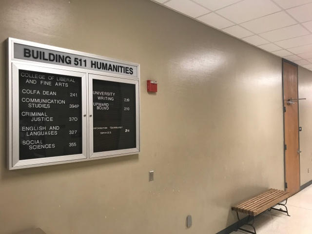 picture of tarleton state humanities building hallway