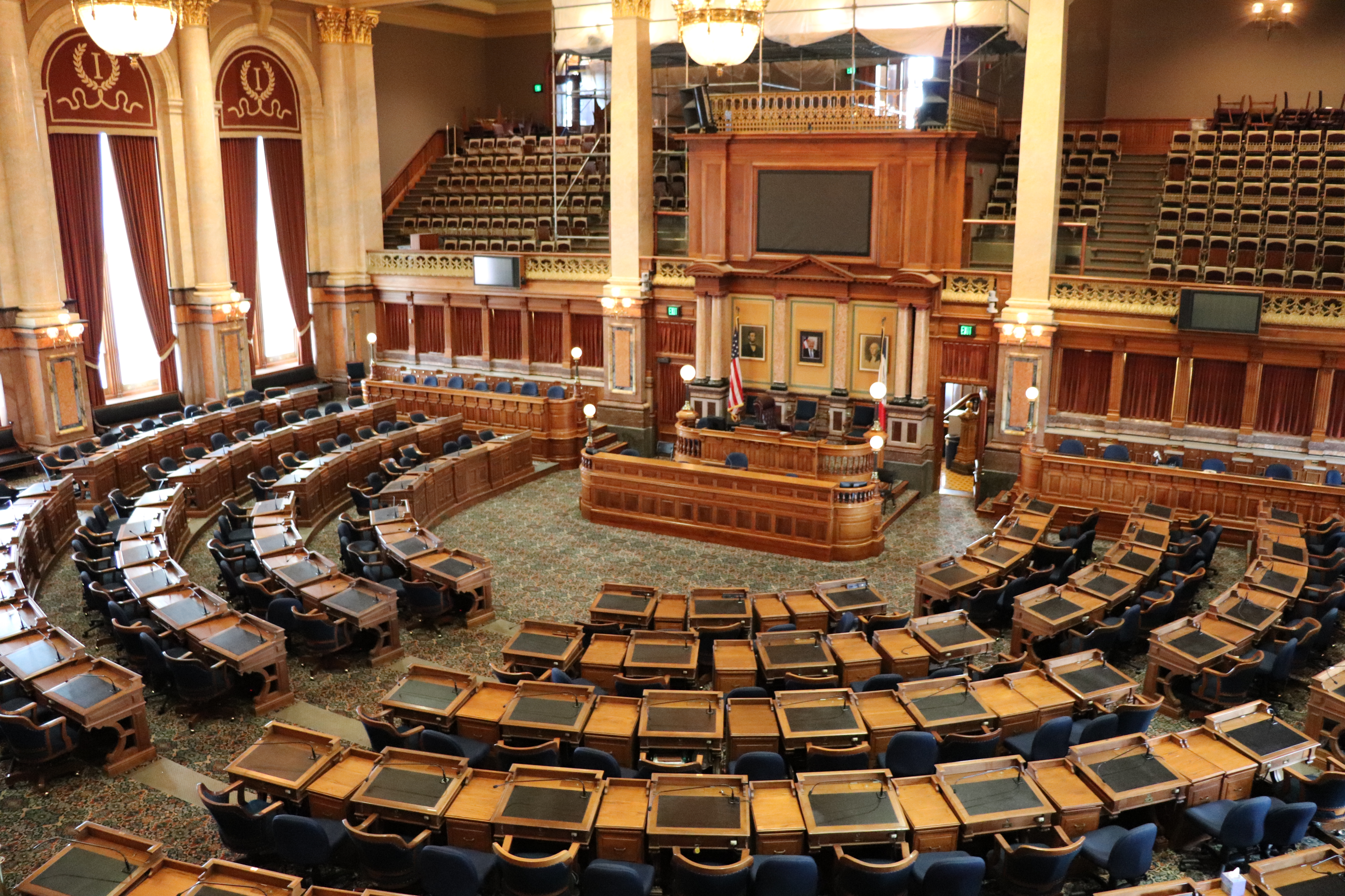 The chamber of the Iowa House of Representatives