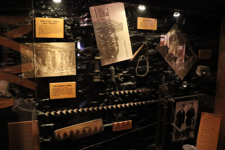 State Historical Museum of Iowa Coal Miner Exhibit