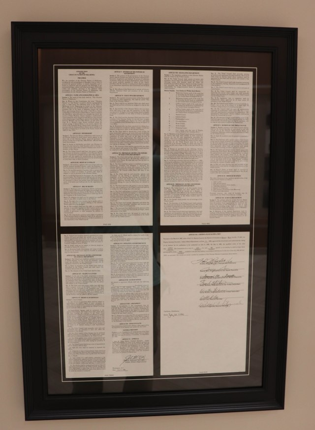 The Constitution of the Choctaw Nation of Oklahoma.