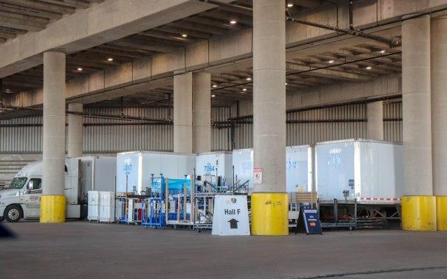 Dallas Convention Center loading dock area